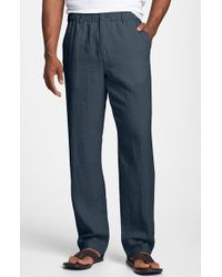 Tommy Bahama 'New Linen On The Beach' Linen Pants blue - Lyst