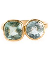 Marie-hélène De Taillac Faceted Double Stone Ring - Metallic