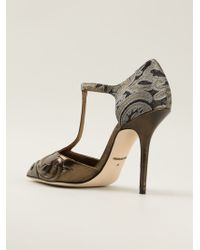 Dolce & Gabbana Gold Bellucci Pumps - Lyst