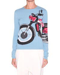 Sonia Rykiel Biker Cotton Pull - Lyst
