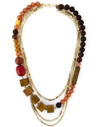 Wouters & Hendrix Bead And Chain Necklace - Lyst