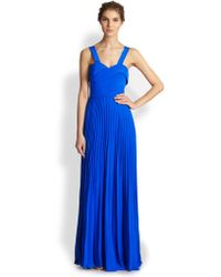 Sachin & Babi Pleated Gown - Lyst