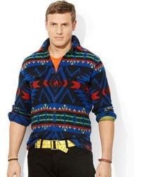 Ralph Lauren Polo Big and Tall Jacquard Workshirt - Lyst