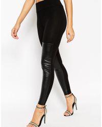 ASOS | Thigh High Leather Look Leggings | Lyst
