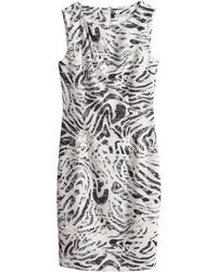 H&M Animal Figurefit Dress - Lyst