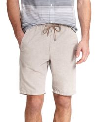 Vince Chambray Drawstring Shorts - Lyst