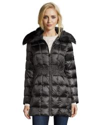 Laundry by Shelli Segal | Black Box Quilted Faux Fur Shawl Collar Jacket | Lyst
