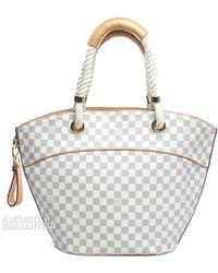 Louis Vuitton Pre-owned Damier Azur Pampelonne Pm Bag - Lyst