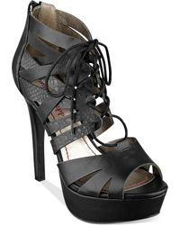 Pink And Pepper - Pink & Pepper Polly Lace Up Platform Shooties - Lyst