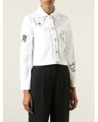 Claire Barrow - Hand Painted Denim Jacket - Lyst