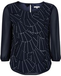 Jacques Vert Embellished Chiffon Top - Lyst