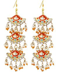Chamak by Priya Kakkar - Fan-style Tiered Drop Earrings - Lyst