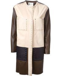 Lanvin Stitching Detail Coat - Lyst