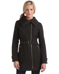 Miss Sixty - Belted Asymmetrical Coat - Lyst