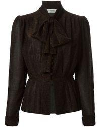 Jean Louis Scherrer Vintage Pussy Bow Blouse Suit - Lyst