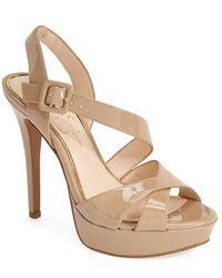 Jessica Simpson 'Beverlie' Platform Sandal beige - Lyst