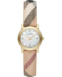 Burberry The City Goldtoned Checkstrap Watch Mop - Lyst