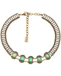 Lionette Rothchild Choker Necklace - Green