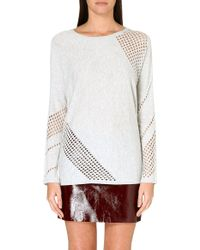 Maje Gressin Perforated Jumper - Lyst