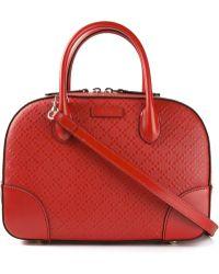 Gucci Red 'Diamante' Tote - Lyst