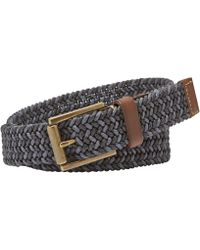 Fossil - Jeffrey Braided Leather-trimmed Belt - Lyst