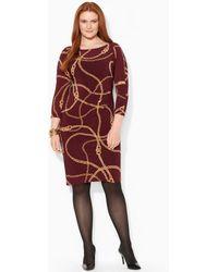 Lauren by Ralph Lauren Belted Cotton Dress - Lyst