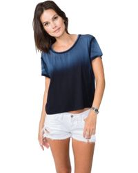 Feel The Piece Tommy Crop Top In Navy - Lyst
