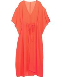 L'Agent by Agent Provocateur - Holly Cutout Neon Georgette Kaftan - Lyst