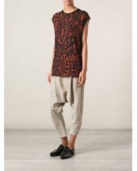 Helmut Lang Strata Printed Top - Lyst