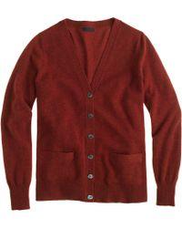 J.Crew Collection Cashmere Boyfriend Cardigan Sweater red - Lyst