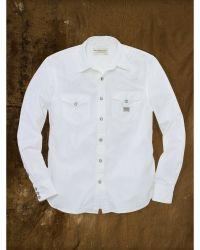 Denim & Supply Ralph Lauren Poplin Western Shirt - White