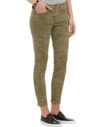 Current/Elliott Green Stiletto Jeans - Lyst
