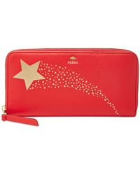 Fossil | Gifting Leather Zip Clutch Wallet | Lyst