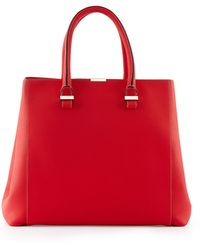 Victoria Beckham Liberty Leather Tote Bag - Lyst
