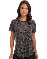 Rebecca Taylor Short Sleeve Tiger Burnout Top - Lyst