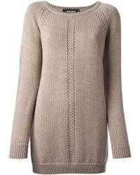 DSquared2 Beige Knit Dress - Lyst