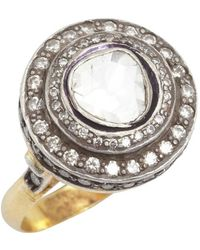 Amrapali - Diamond And Gold 'color Stone' Cocktail Ring - Lyst