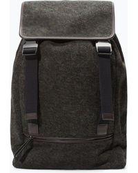 Zara Brown Backpack - Lyst