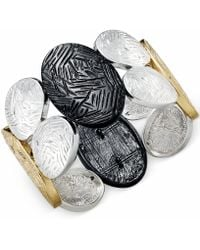 Style & Co. - Tri-tone Textured Metal Bracelet - Lyst
