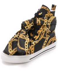 Boutique Moschino - Chain Sneakers - Black/gold - Lyst