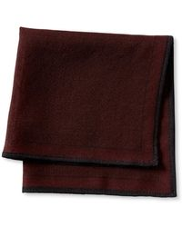 Banana Republic Red Geo Silk Pocket Square red - Lyst