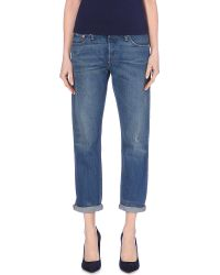 Levi's 501 Straight Mid-Rise Jeans - For Women - Lyst