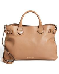 Burberry 'Medium Banner' Leather Tote - Lyst