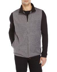 IZOD Fleece Lined Spectator Vest NWT Full Zip Embroidered Logo Zip Chest Pocket
