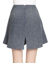 Theyskens' Theory Swick Wambray Cotton Melange Skirt - Lyst