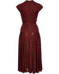 Zac Posen   Floral Jersey Cap Sleeve Dress   Lyst
