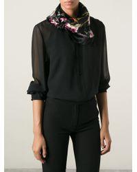 Dolce & Gabbana Floral Print Scarf - Lyst