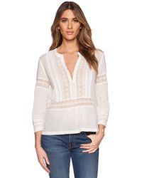 Twelfth Street Cynthia Vincent Gauze Lace Top white - Lyst