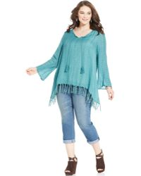 American Rag Plus Size Embroidered Fringed Peasant Tunic - Lyst