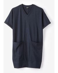 Steven Alan Cuffed V Neck Dress - Lyst